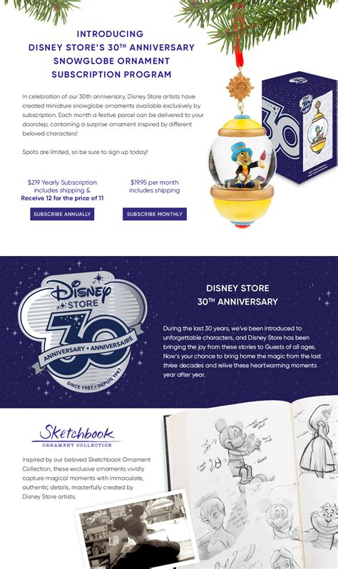 sketchbook subscription free disney store 30th anniversary sketchbook ornament