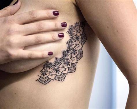 sideboob tattoo the 25 best ideas about half mandala on