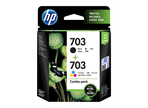 Hp Cartridge 703 Tri Color Ink hp 703 2 pack black tri color original ink advantage