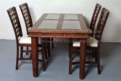 design nama meja set meja makan minimalis 4 kursi kayu jati jepara model