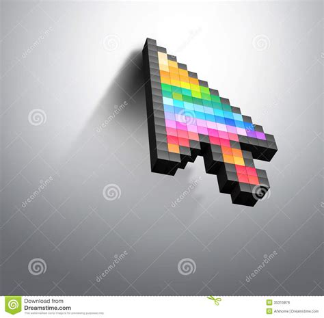 cursor color cursor color pixel computer mouse royalty free stock image