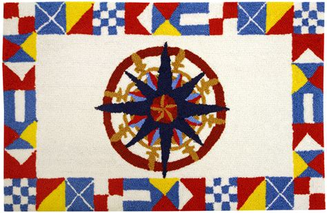 Nautical Rugs Nautical Compass Accent Rug