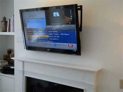 Can I Mount A Tv Above A Gas Fireplace by Want To Wall Mount Tv Sky Box And Cables Problem Yahoo