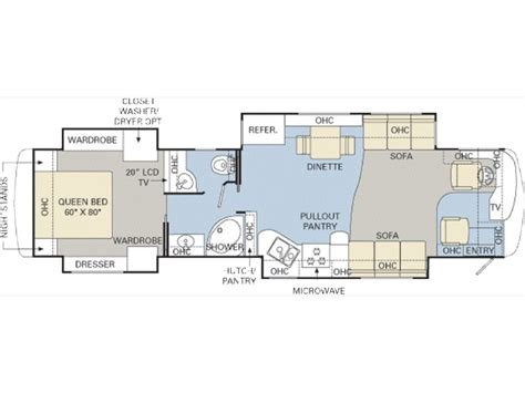 monaco rv floor plans monaco diplomat 40prq photos details brochure floorplan