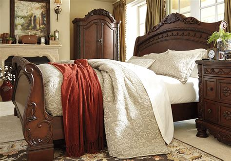 north shore sleigh bedroom set north shore king sleigh bedroom set lexington overstock