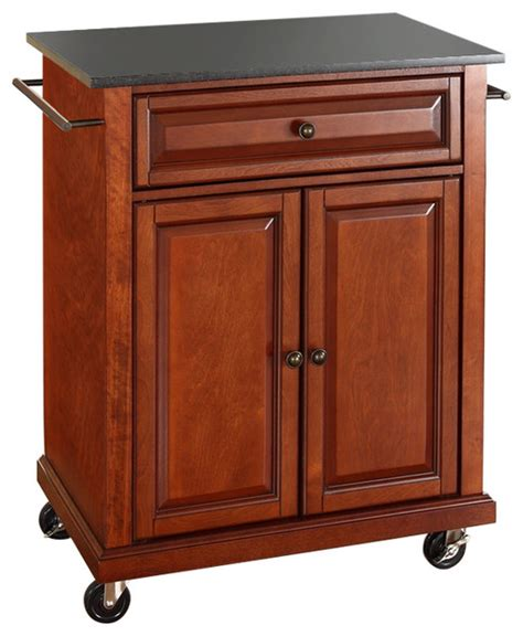 kitchen island on wheels cherry portable kitchen island cart with granite top and