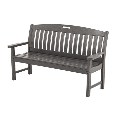 wood bench home depot safavieh jovanna white ash grey acacia wood 2 seat patio