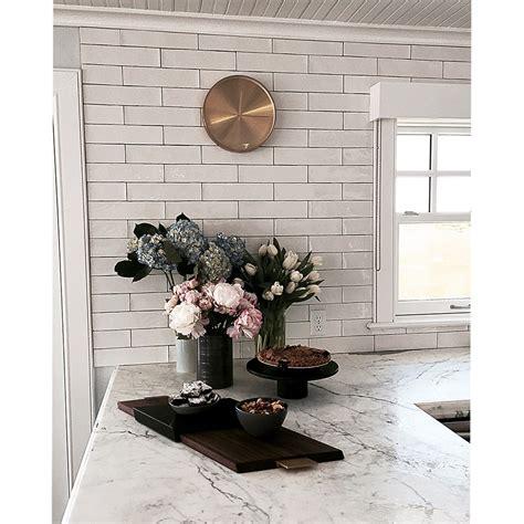 Green Glass Backsplashes For Kitchens shop for lancaster 3x12 bianco ceramic tile at tilebar com
