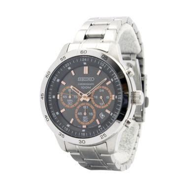 Jam Tangan Pria Seiko Quartz Snaf63p1 Chronograph Stainless jual seiko chronograph sks521p1 quartz tali logam stainless steel jam tangan pria hitam