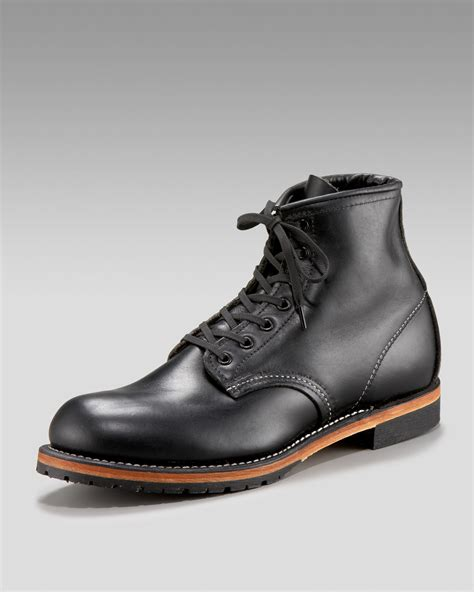 wings mens boots lyst wing beckman boot in black for