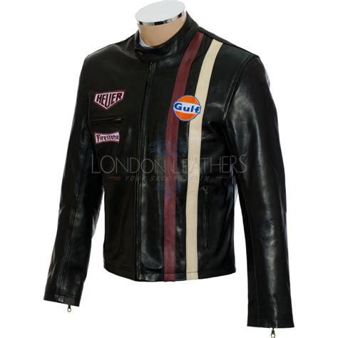 Mcqueenleather Jacket steve mcqueen gulf black le leather jacket