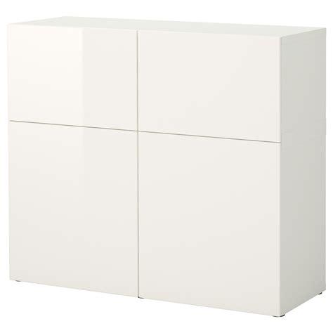 besta gloss white best 197 storage combination with doors white high gloss