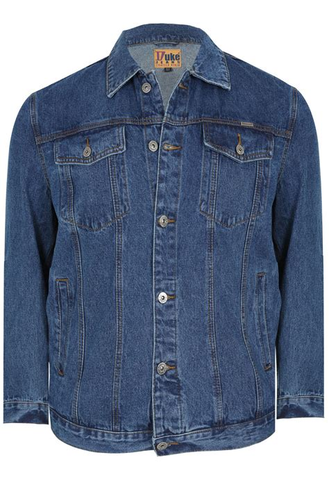 Button Jacket duke denim jacket with collar button front large