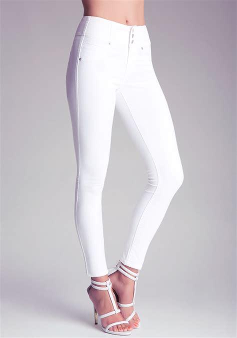 Highwaist White bebe high waist in white lyst