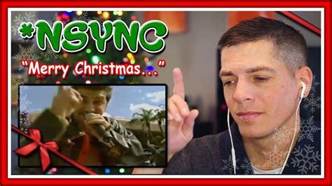 nsync reaction merry christmas happy holidays  youtube