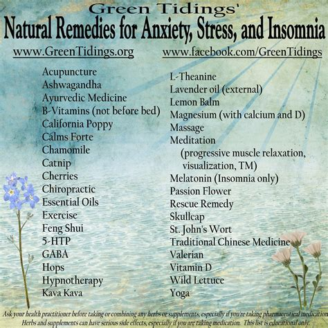 remedies for anxiety green tidings remedies for anxiety stress and insomnia