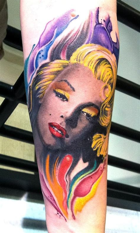 splash of color tattoo my marilyn by solomon trofatter east lansing mi