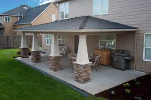 Cost To Build Patio Cover How To Make Covered Patio Ideas In The Backyard Patio