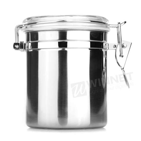 stainless steel airtight canister kitchen storage jars home kitchen stainless steel airtight sealed canister dry