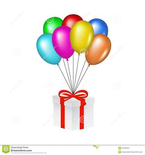 imagenes de regalo con globos deamor globos brillantes multicolores que levantan una caja de