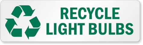 recycle lights light bulb recycling labels