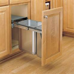 Kitchen Cabinet Trash Pull Out Rev A Shelf Double Trash Pullout 30 Litre Stainless Steel