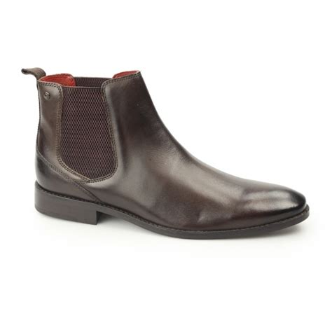 base cheshire mens washed leather chelsea boots