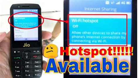 mobile hotspot phone jio phone hotspot how to on and use hotspot in jio phone