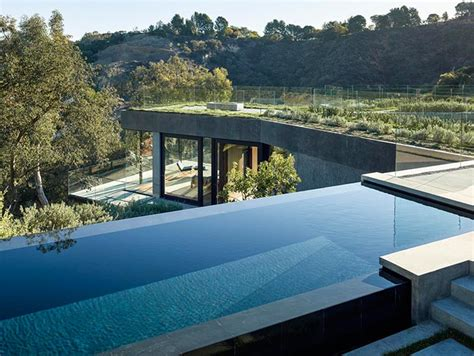 homes with pool oak pass house contemporary home with infinity pool in
