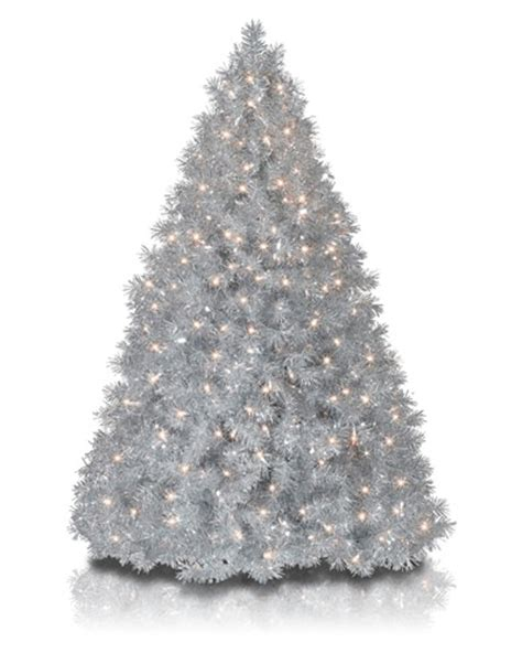 9 silver christmas tree silver stardust tinsel artificial tree treetopia