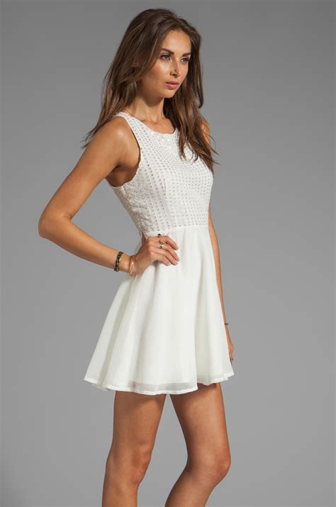 White Dress Pantai S lyst ladakh skater dress in white in white