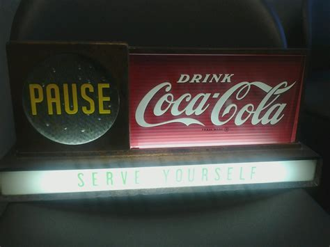 coca cola light up sign light up quot pause drink coca cola quot sign collectors weekly
