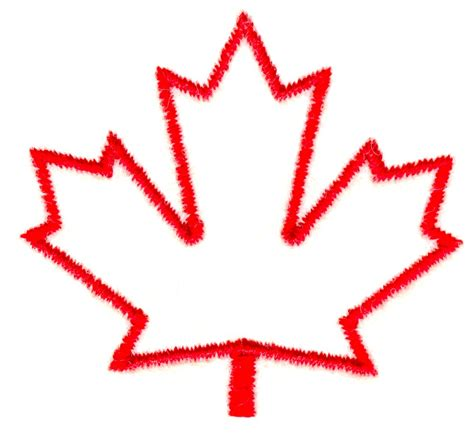 Canada Maple Leaf Outline by Maple Leaf Outline Clipart Clipart Suggest