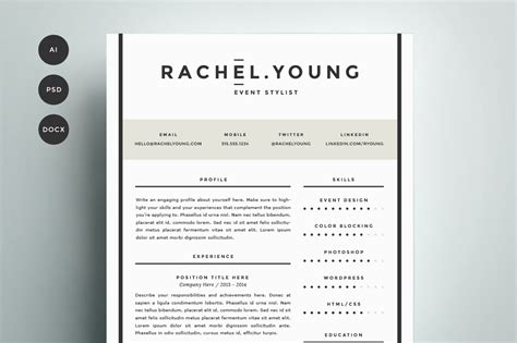 Resume Cv Template 4 Pack by Resume Template 4 Pack Cv Template Resume Templates On