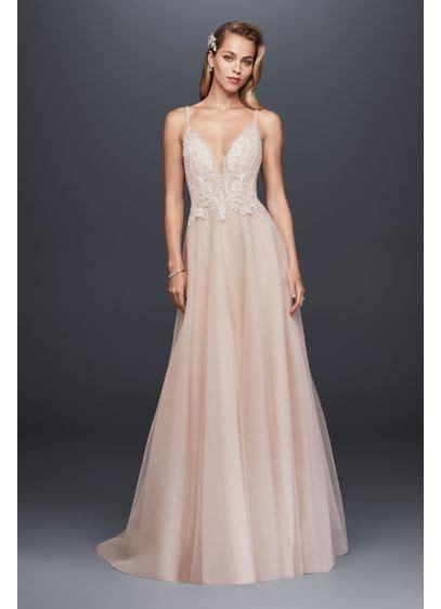 sheer beaded wedding dress sheer beaded bodice organza a line wedding dress david s