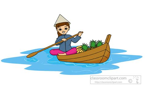 boat on lake clipart asia clipart woman with conical hat rowing boat in lake