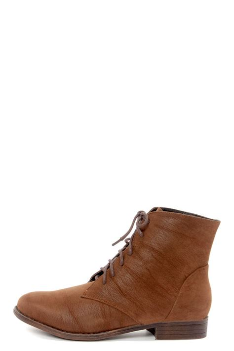 dollhouse dandy chestnut brown suede lace up ankle boots