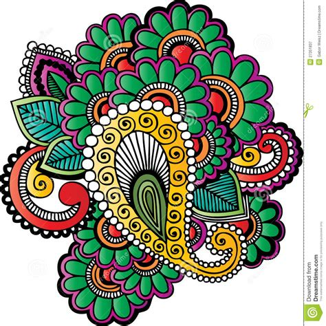 henna tattoo motifs stock vector image of floral