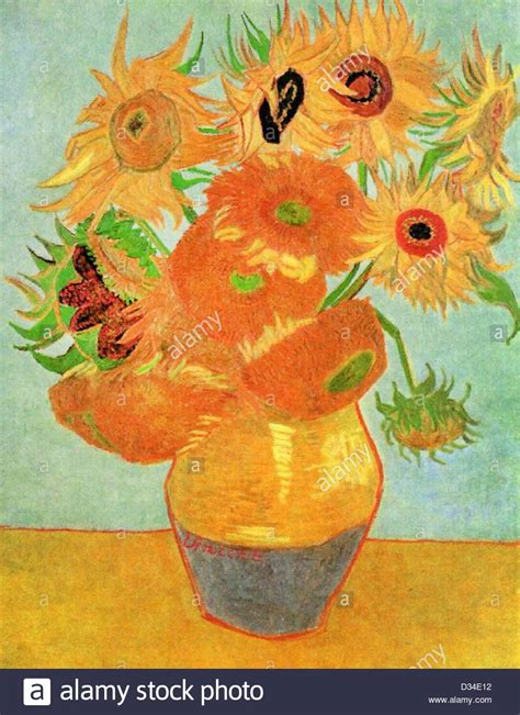 vincent gogh vase with twelve sunflowers vincent gogh still vase with twelve sunflowers