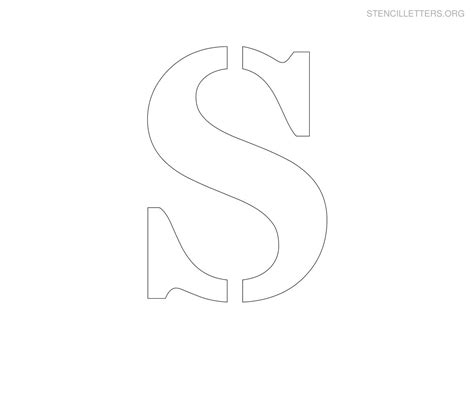 s free 28 letter s template large large size alphabet