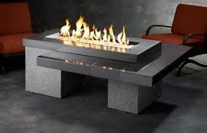 Outdoor Gas Fire Pit Tables - outdoor greatroom uptown chat height black gas fire pit table with 42x12 inch bu ebay