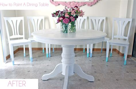 how to paint a dining room table without sanding how to paint a dining room set