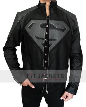 Jaket Parka Hiacket Black X Grey superman jacket clark kent leather jacket
