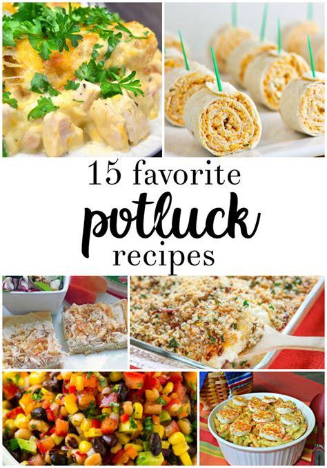 potluck recipes  crafty