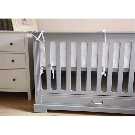 Thick Crib Bumper by Crib Bumper White Cribs 60x120
