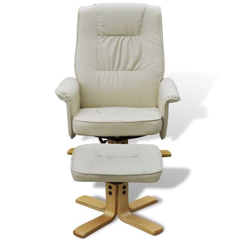 tv armchair cream white tv armchair recliner artificial leather with