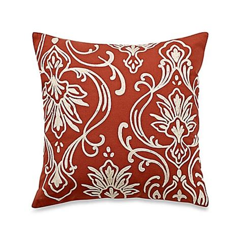 Motif Calista blue court calista crewel motif square throw pillow