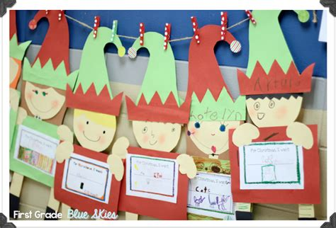 elf craft for the classroom first grade blue skies