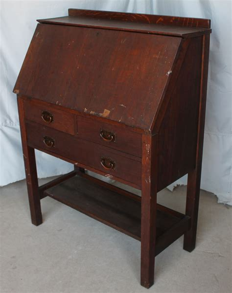 Bargain John's Antiques » Blog Archive Gustav Stickley Drop front Desk   Bargain John's Antiques