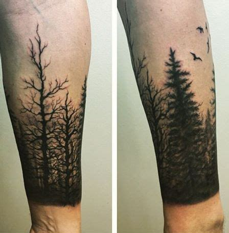 collection of 25 left half sleeve tree tattoo for men